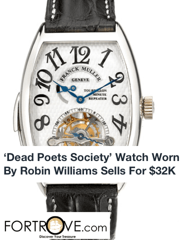 'Dead Poets Society' Watch Worn By Robin Williams Sells For $32K