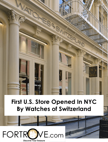 First U.S. Store Opened In NYC By Watches Of Switzerland