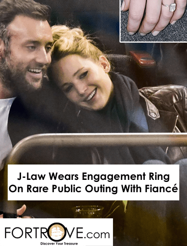 J-Law Wears Engagement Ring On Rare Public Outing With Fiancé