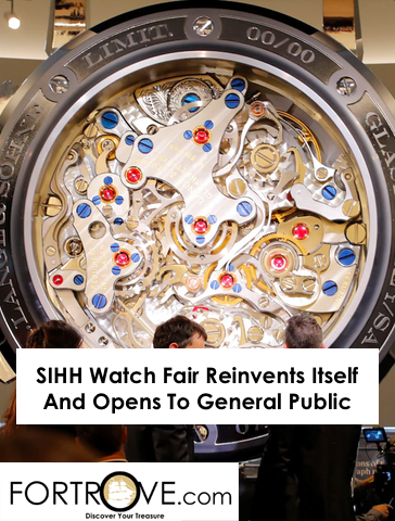 SIHH Watch Fair Reinvents Itself And Opens To General Public