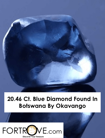 20.46 Ct. Blue Diamond Found In Botswana By Okavango