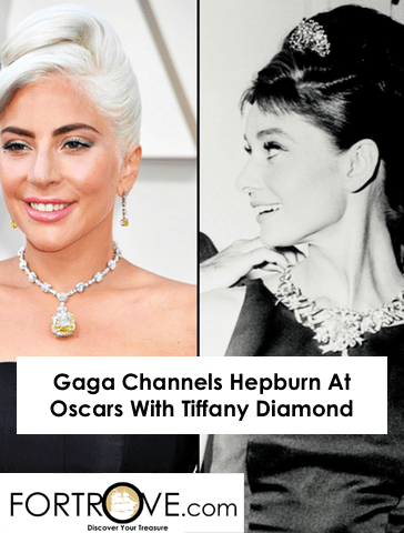 Gaga Channels Hepburn At Oscars With Tiffany Diamond