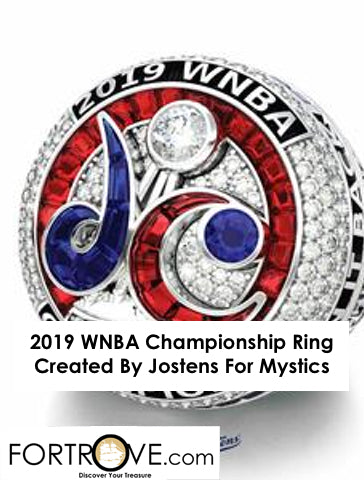 2019 WNBA Championship Ring Created By Jostens For Mystics