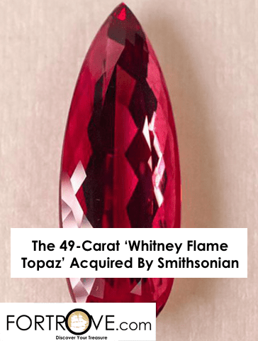 The 49-Carat 'Whitney Flame Topaz' Acquired By Smithsonian
