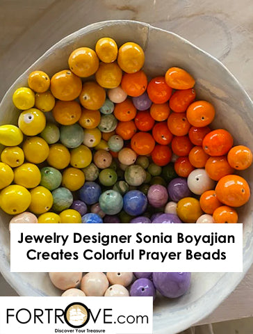 Jewelry Designer Sonia Boyajian Creates Colorful Prayer Beads