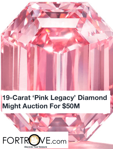 19-Carat 'Pink Legacy' Diamond Might Auction For $50M