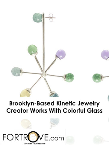 Brooklyn-Based Kinetic Jewelry Creator Works With Colorful Glass