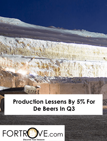 Production Lessens By 5% For De Beers In Q3