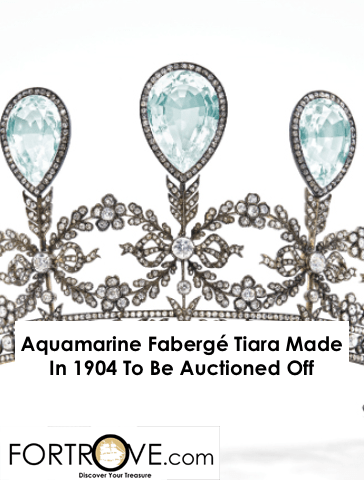 Aquamarine Fabergé Tiara Made In 1904 To Be Auctioned Off