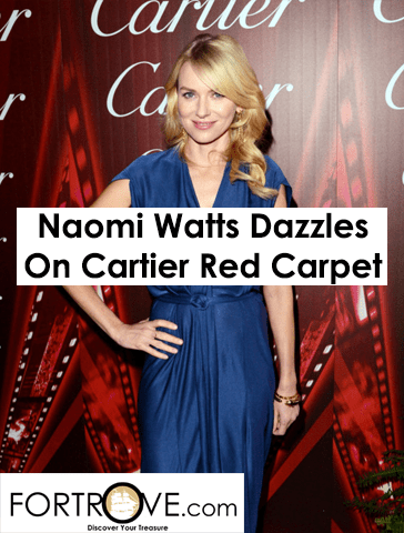 Naomi Watts Dazzles on National Gallery Cartier Exhibit Red Carpet