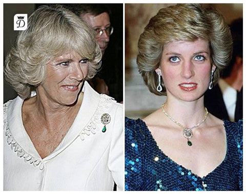 camilla parker bowles loses her mind wears princess diana s jewelry camilla parker bowles loses her mind