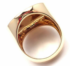 Rare! Authentic Cartier 18k Yellow Gold High Polish Large Dome Ring