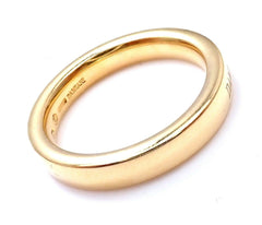 New! Authentic Damiani 18k Yellow Gold 3.5mm Band Ring Sz 6.5