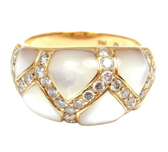 Kabana 14k Yellow Gold Mother of Pearl 0.30ctw Diamond Ring 5.75