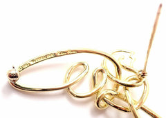 Authentic! Vintage Tiffany & Co Paloma Picasso 18k Yellow Gold Dove Brooch 1983