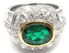 Rare! Authentic Patek Philippe Platinum Diamond Emerald Ring Certificate