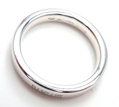 New! Authentic Damiani 18k White Gold 3.5mm Band Ring Sz 7.5