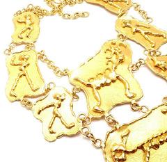 ONE OF A KIND! IMPORTANT! AUTHENTIC JEAN MAHIE 22K YELLOW GOLD HEAVY NECKLACE