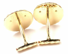 Rare! Authentic Van Cleef & Arpels 18k Yellow Gold Panther Panthere Cufflinks