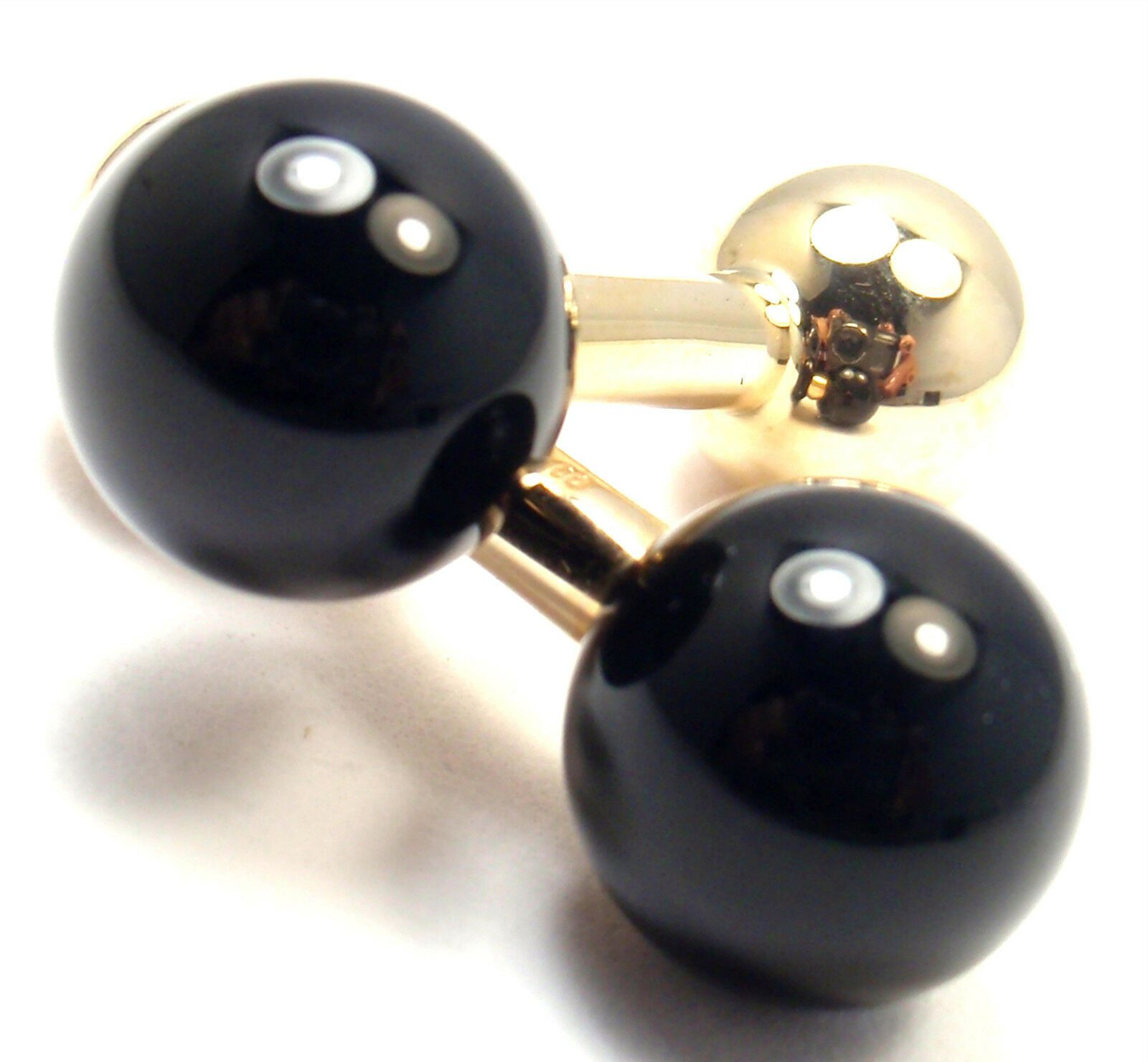 Authentic! Vintage Tiffany & Co 14k Yellow Gold Black Onyx Cufflinks