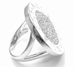 Rare! Authentic Bvlgari Bulgari 18k White Gold Diamond Ring