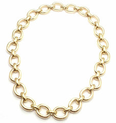 Rare! Authentic Cartier 18k Yellow Color Gold Oval Link Necklace