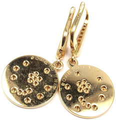 Rare! Authentic CHANEL 18k Yellow Gold Comete Diamond Star Earrings
