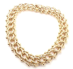 Rare! Vintage Authentic Tiffany & Co 14k Yellow Gold Wide Link Chain Necklace.