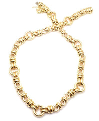 Rare! Authentic Chopard Les Chaines 18k Yellow Gold Link Necklace