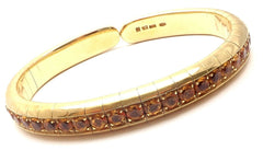 Authentic! Pasquale Bruni 18k Yellow Gold Citrine Bangle Bracelet