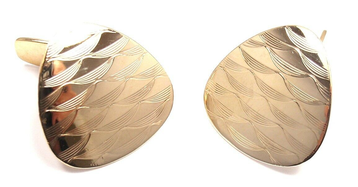 EXTREMELY RARE! AUTHENTIC VINTAGE TIFFANY & CO 14K YELLOW GOLD LARGE CUFFLINKS