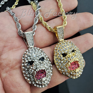 Hip Hop Iced APE KING KONG Pendant & 4mm 24