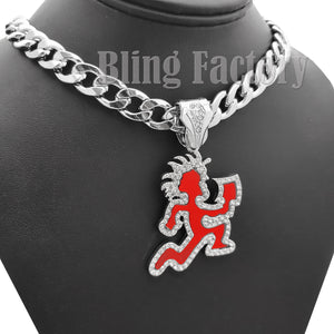 Hip Hop Silver PT HATCHET MAN RUNNER Pendant & 11mm 20