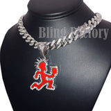 "HATCHET MAN RUNNER Pendant & 12mm 16"" 18"" 20"" Iced Cuban Choker Chain Necklace"