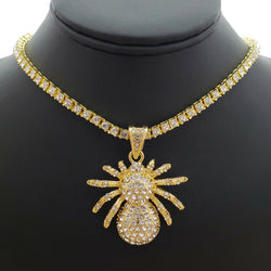 Hip Hop Iced out SPIDER Pendant 18