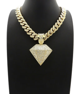 Hip Hop Diamond Shape Pendant 18