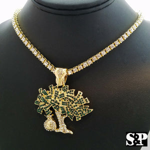 Hip Hop Money Bag Tree Charm & 4mm 18