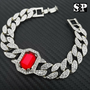 White Gold PT Red Ruby 15mm 8.5