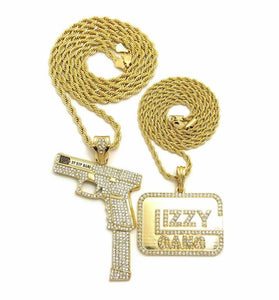 Hip Hop Iced Out 37 Rip Mary & Glizzy Gang Pendant 24
