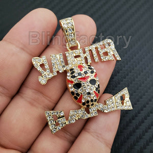 ICED OUT HIP HOP LAB DIAMOND GOLD PLATED Savage 21 Slaughter Gang PENDANT