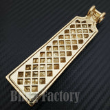 HIP HOP ICED OUT GOLD PLATED LAB DIAMOND CIROC VODKA BOTTLE LARGE PENDANT