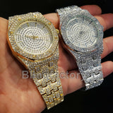 Lab Diamond Luxury MIGOS Iced out Rapper's Metal Band Dress Clubbing wrist Watch