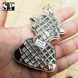 HIP HOP ICED OUT LAB DIAMOND WHITE GOLD PLATED LARGE MONEY ROBBER PENDANT