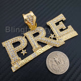HIP HOP ICED OUT YOUNG DOLPH PRE GOLD PLATED BLING LAB DIAMOND LARGE PENDANT