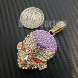 Hip Hop Iced Out Gold plated Lab Diamonds Dragon Ball FRIEZA Charm Pendant