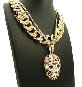 Hip Hop Iced Out Slaughter Gang Necklace & 18