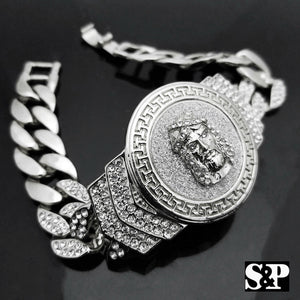 New Hip Hop White Gold Plated 8.5