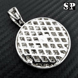 HIP HOP ICED LAB DIAMOND WHITE GOLD PLATED LAST SUPPER PENDANT