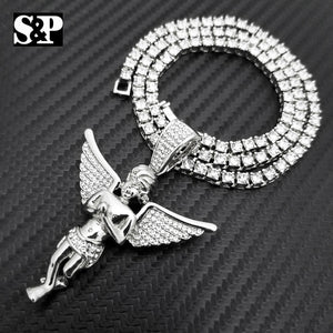 Hip Hop Baby Angel Pendant & 18