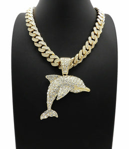 Hip Hop YOUNG DOLPH DOLPHIN Pendant & 18